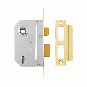 Yale P-M246-PB-63 2 Lever Sashlock 64mm Brass