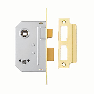 Yale P-M236-PB-63 Bathroom Sashlock 64mm Brass