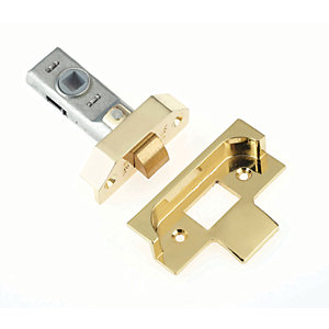 Yale P-M999-PB-64 Rebated Tubular Latch 64mm Brass