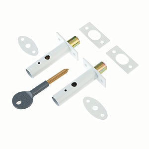 Yale P-2PM444-WE-2 Door Security Bolt White Pack 2
