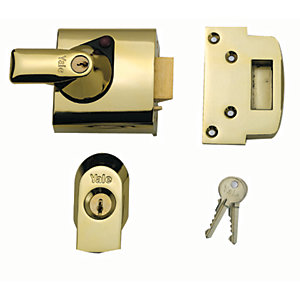 Yale P-BS1-BLX-PB-60 British Standard Nightlatch 60mm Brass