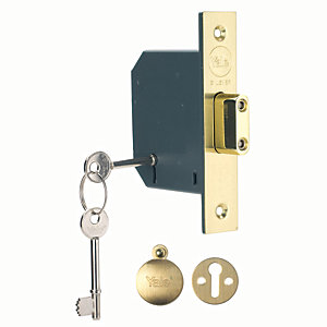 Yale P-M552-PB-78 5 Lever Deadlock 76mm Brass