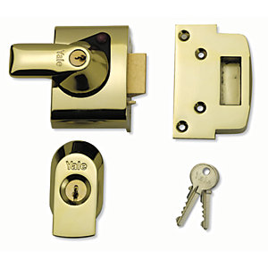 Yale P-BS2-BLX-PB-40 British Standard Nightlatch 40mm Brass