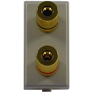 Wickes Gold Plated Twin Speaker Connector