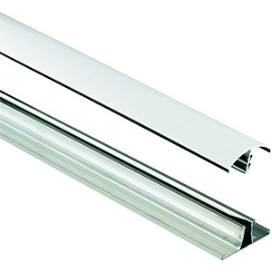 Wickes White Universal Glazing Bar for Polycarbonate Sheets 3000mm