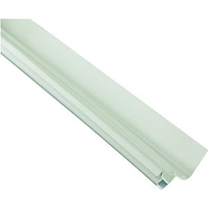 Wickes White Universal Edge Flashing For Polycarbonate Sheets 3000mm