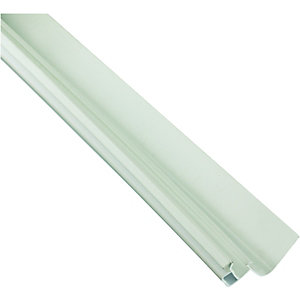 Wickes White Universal Edge Flashing for Polycarbonate Sheets 4000mm