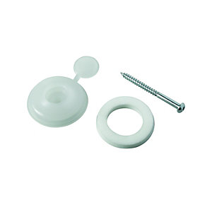 Wickes Clear Polycarbonate Fixing Buttons for 10mm Polycarbonate Sheets Pack 10