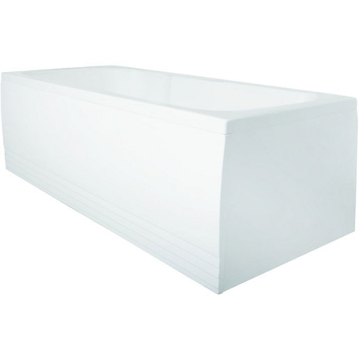Wickes Albany Double Ended Bath White 1700mm