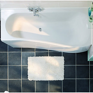 Wickes Aswan Offset Bath Front Panel White 1700mm