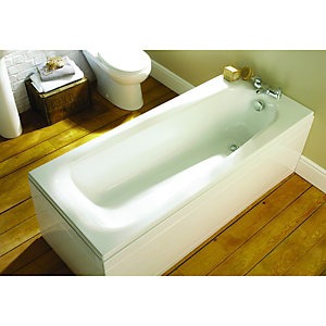 Wickes Eco Contemporary Low Literage Bath End Panel White 800mm