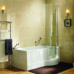 Wickes Easy Access Bath Screen Left Hand