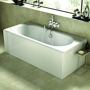 Wickes Arc One Piece Standard Bath White 1785mm