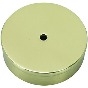 Wickes Brass Effect Handrail End Caps Pack 2