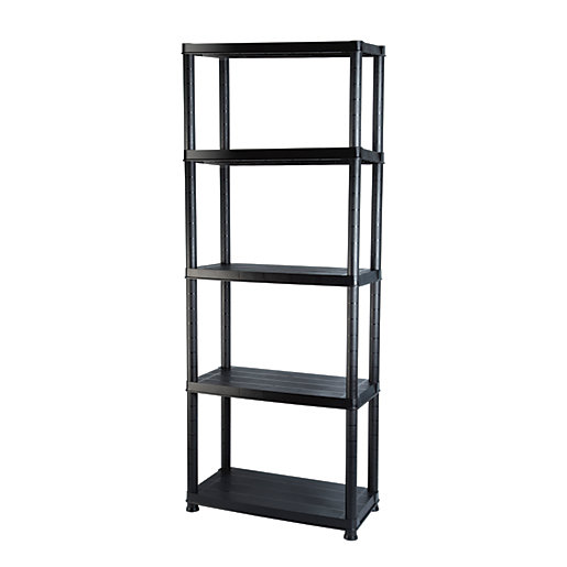 addis 5 tier heavy duty plastic shelving unit. Black Bedroom Furniture Sets. Home Design Ideas
