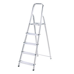 Arrow Diy Aluminium Stepladder 5 Tread