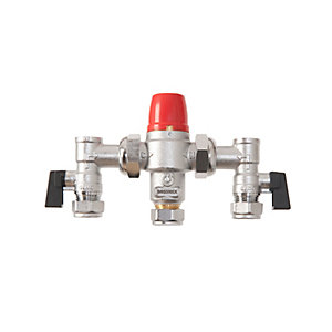 Bossmix TMV322AC Thermostatic Mixing Valve & Strainers Non Return Valves & Isolation Valves Strainers 22mm
