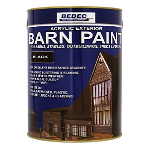 Bedec Barn Paint Black 5L