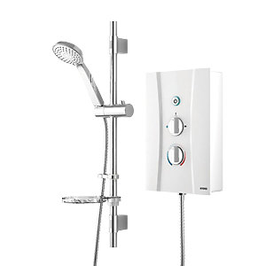 Wickes Hydro Thermostatic Electric Shower White 8.5kW