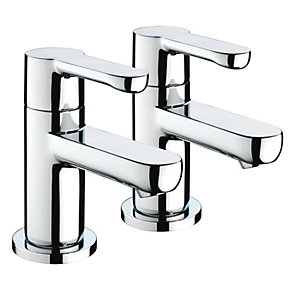 Bristan Nero Bath Taps Chrome