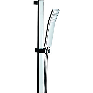 Wickes Square Shower Riser Rail Kit Chrome