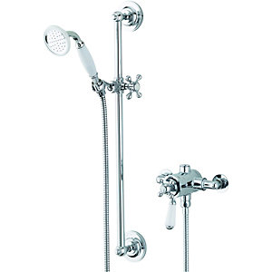 Wickes Legacy Thermostatic Mixer Shower Chrome