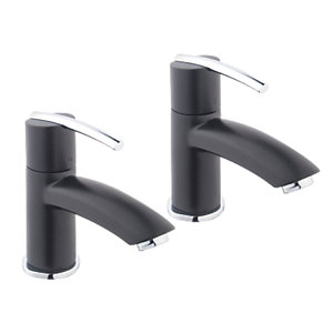 Wickes Versaille Bath Taps Black
