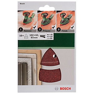 Bosch 10 Piece Multi-Sander Mixed Grit