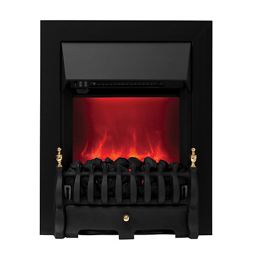 camberley electric inset fires black. Black Bedroom Furniture Sets. Home Design Ideas