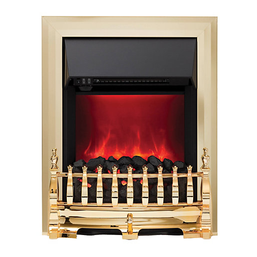 camberley electric inset fires brass. Black Bedroom Furniture Sets. Home Design Ideas