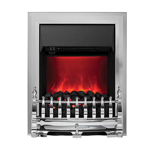 camberley electric inset fires chrome. Black Bedroom Furniture Sets. Home Design Ideas