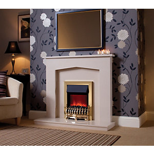 Be Modern Melrose Marble Electric Fire Suite