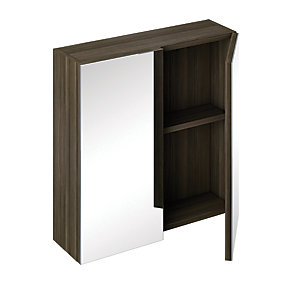 iflo Trapini Mirrored Cabinet Grey 600 x 350mm