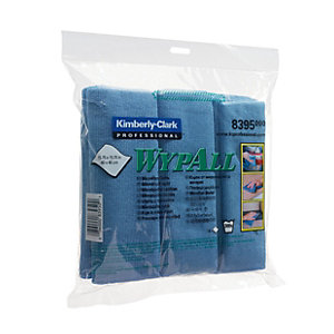 Image of Wypall Microfibre Blue Cloths 4 Pack