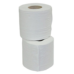 Toilet Tissue 2PLY White 95mm x 120mm 200 Sheets Pack 4