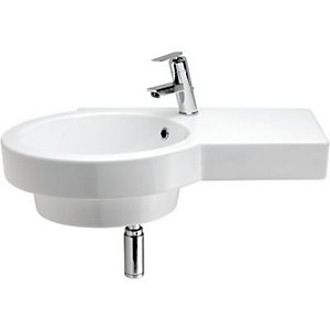 Wickes Sesto Offset Basin Left Hand 750mm