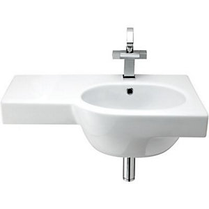 Wickes Trento Offset Basin Right Hand 750mm