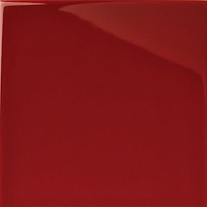 Wickes Cosmopolitan Gloss Red Ceramic Wall Tile 100x100mm