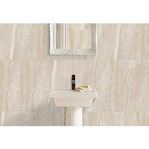 Wickes Newton Beige Matt Ceramic Wall Tile 248 x 498mm