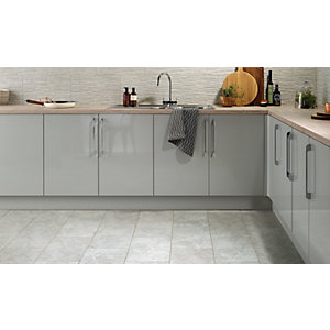 Wickes Mayfield Grey Riven Ceramic Wall & Floor Tile 298x498mm
