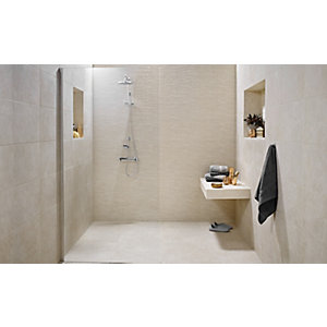 Wickes Mayfield Beige Splitface Ceramic Wall Tile 298 x 498mm