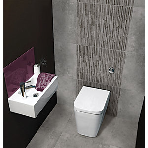 Wickes Battersea Splitface Grey Ceramic Wall Tile 298x498mm