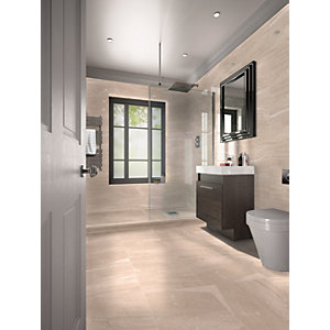 Wickes Newton Beige Matt Ceramic Floor Tile 498x498mm