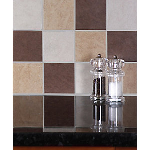 Wickes Elena Noce 10x10cm Ceramic Wall Tile 100x100mm