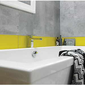 Wickes Impact Lemon Glass Wall Tile 148x448mm Pack 5