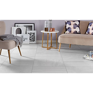 Wickes Replica Travertine Effect Grey 30 x 50cm Ceramic Floor & Wall Tile