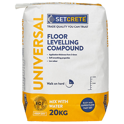 Setcrete Universal Floor Levelling Compound 20kg Wickes