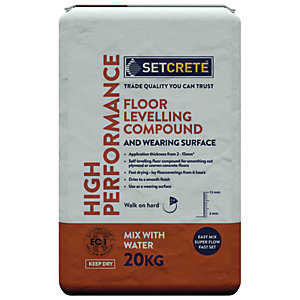 Setcrete High Performance Self Levelling Floor Compound 20kg