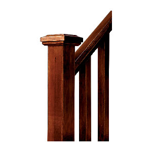 Wickes Contemporary Hemlock Newel Post Cap