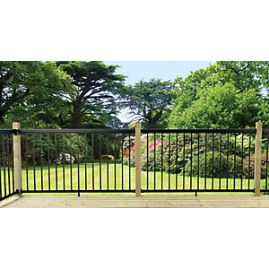 Probuilt Deck Railing Kit 1800mm x 1067mm Black
